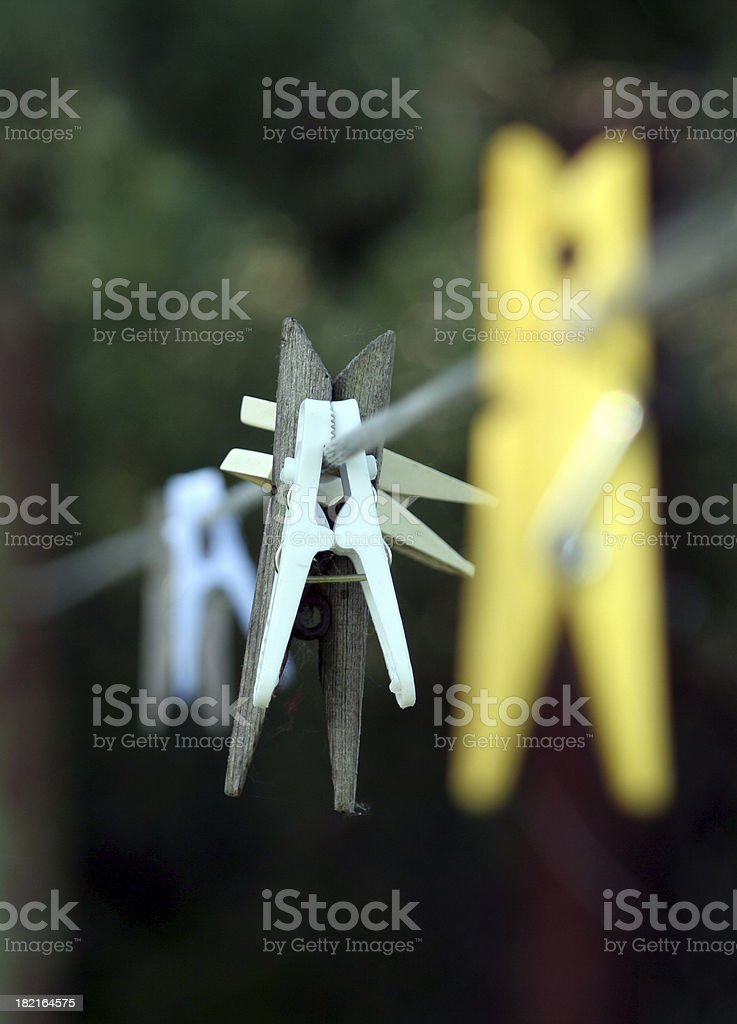 Wooden clothes-peg royalty-free stock photo