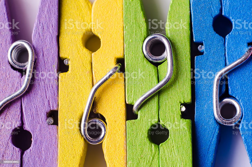 wooden clothespins stock photo