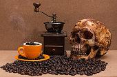 Wooden Coffee Bean Vintage Style Hand Grinder