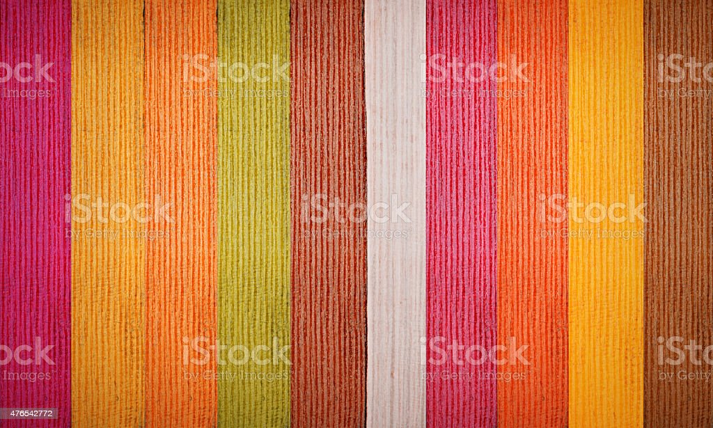 Wooden colorful plank background. stock photo