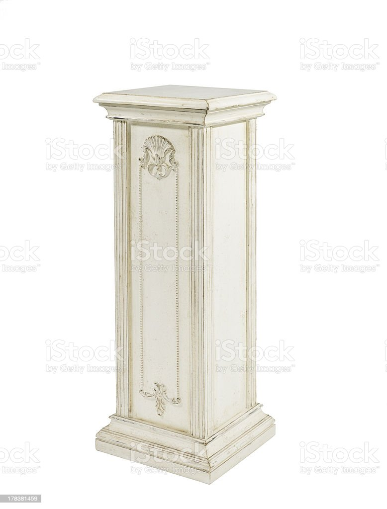 wooden column stock photo