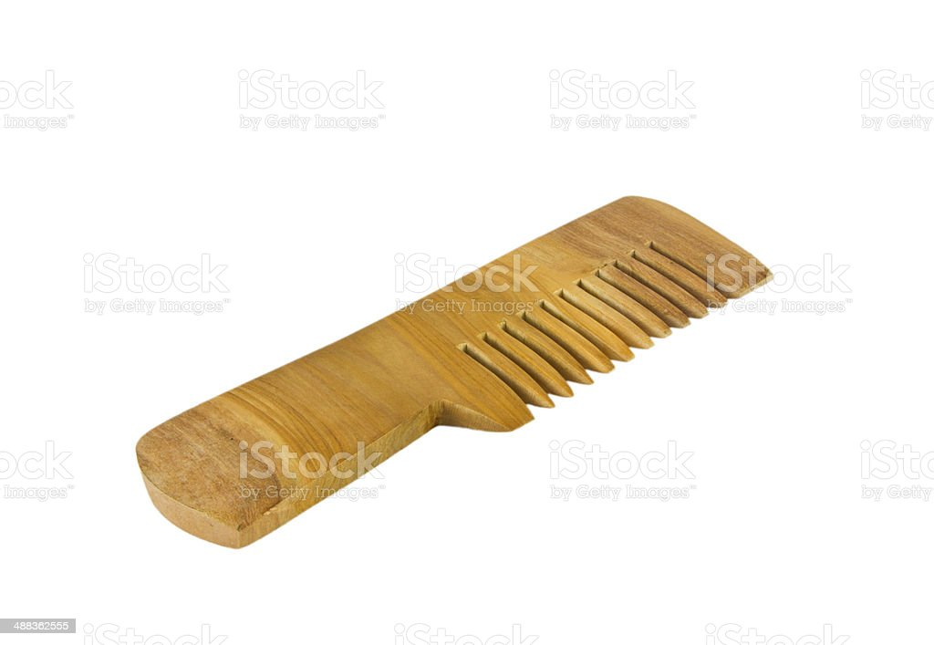 Wooden Comb Isolated royalty-free stock photo