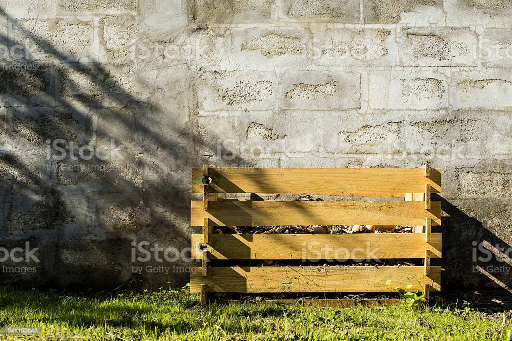 Wooden compost stock photo