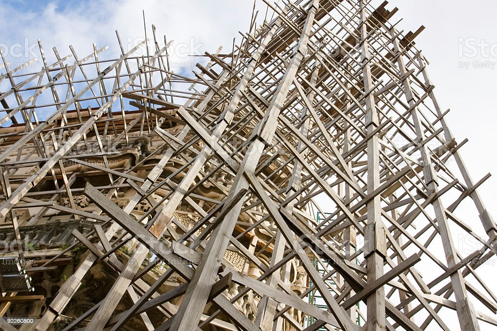 wooden construction frame royalty-free stock photo