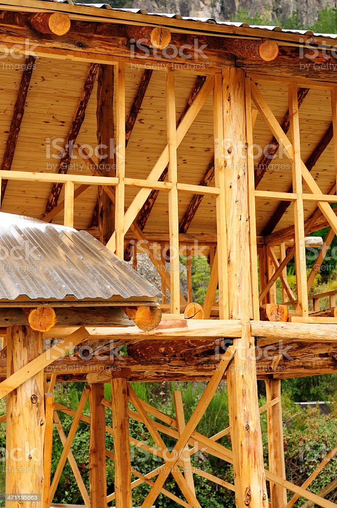 Wooden Construction of House stock photo