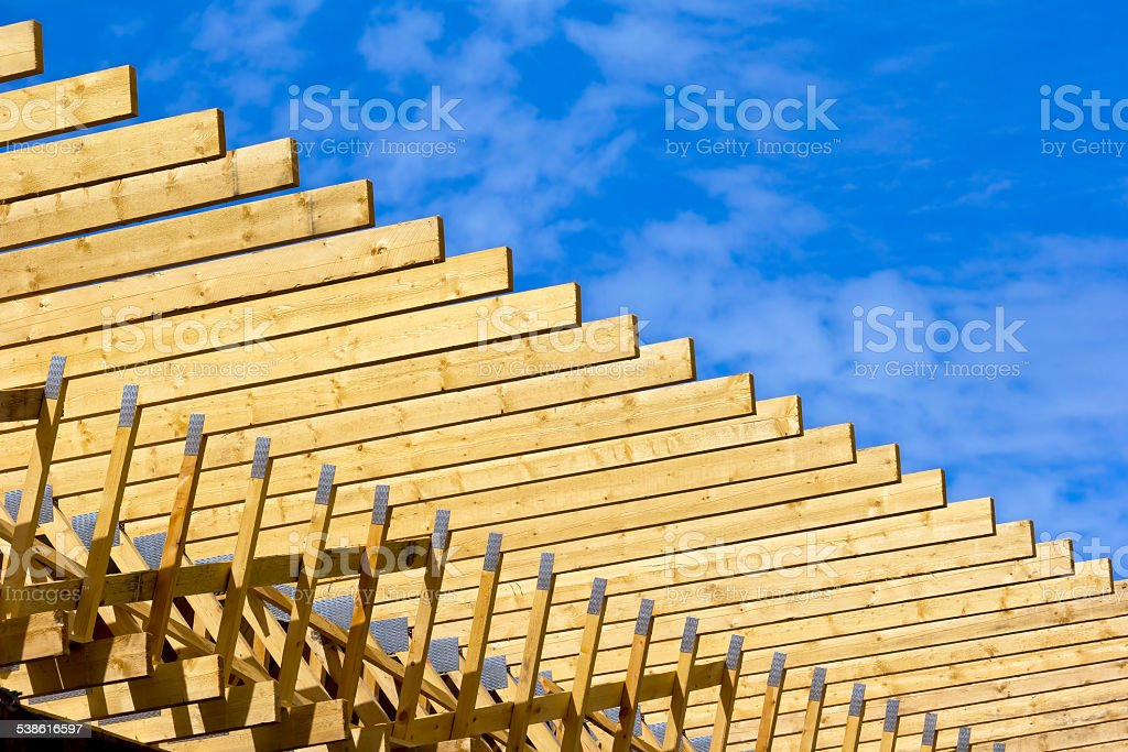 Wooden construction stock photo