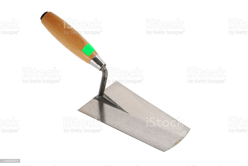Wooden construction trowel royalty-free stock photo