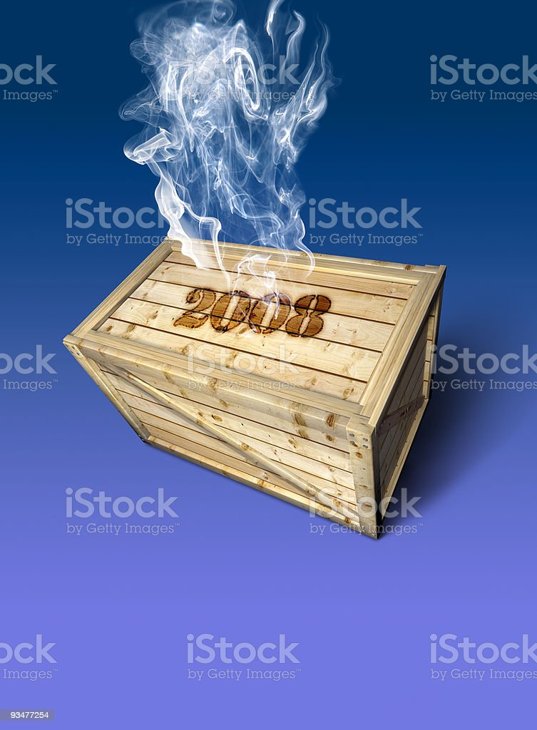 Wooden Container 2008 royalty-free stock photo
