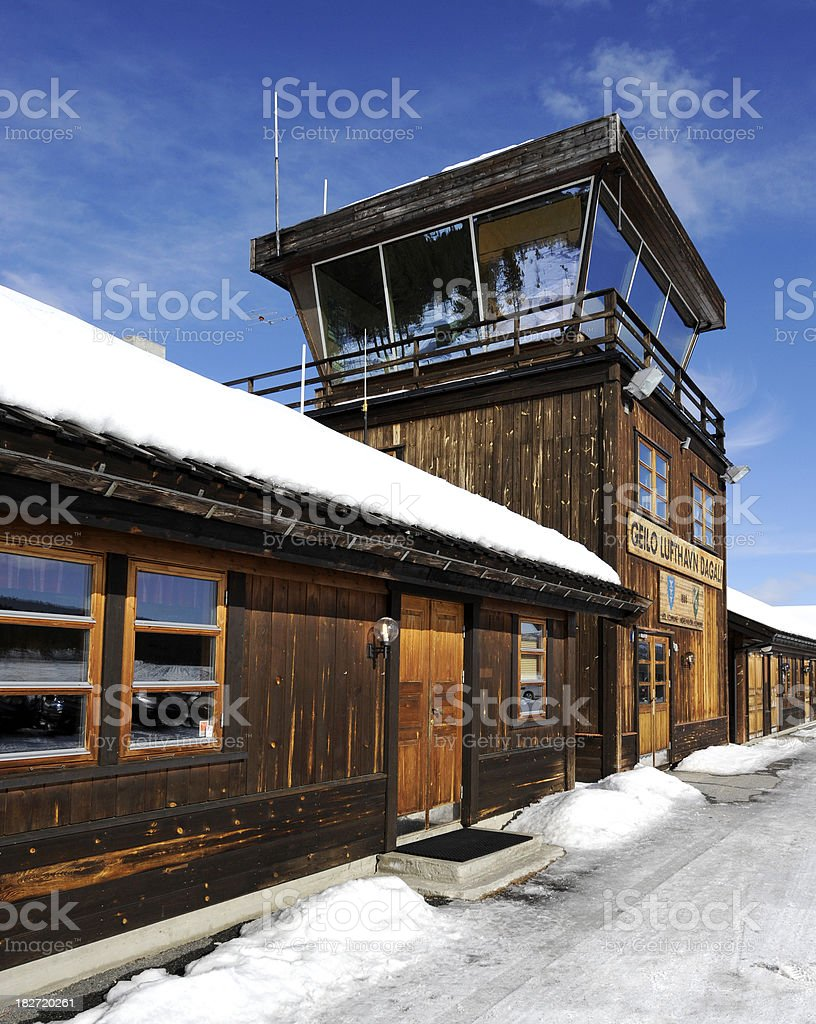 Wooden Control Tower stock photo