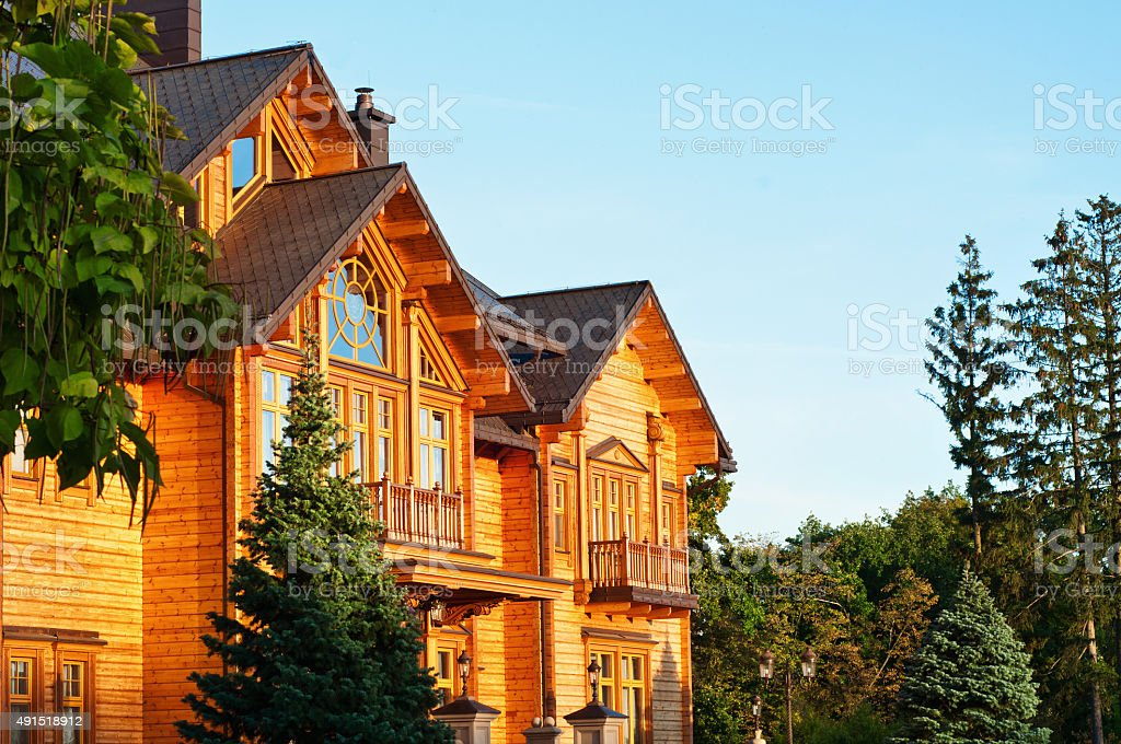 Wooden Cottage stock photo