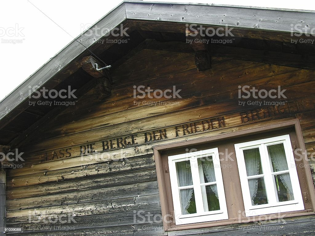 Wooden Cottage royalty-free stock photo