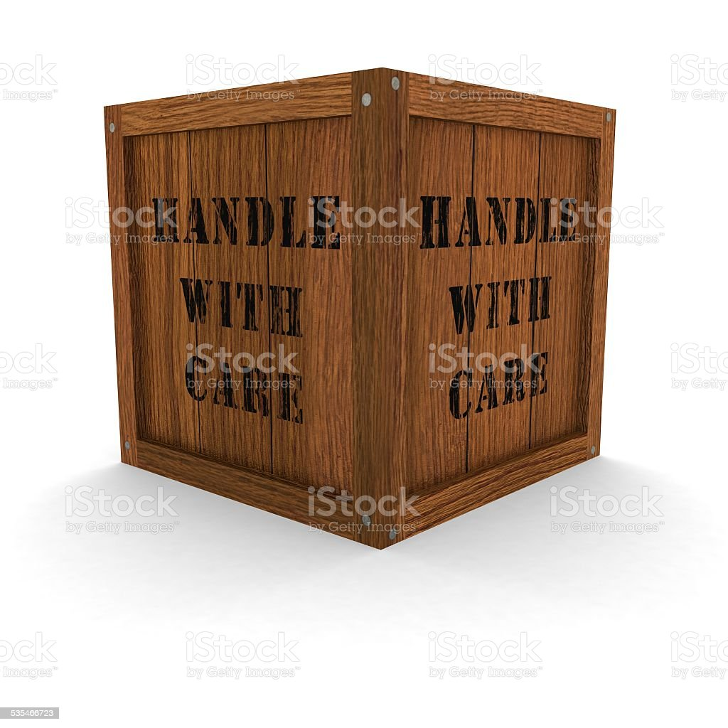 Wooden Crate With Handles Wooden Crate Handle With Care Stock Photo 535466723 Istock