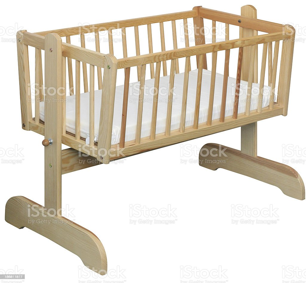 Wooden crib royalty-free stock photo