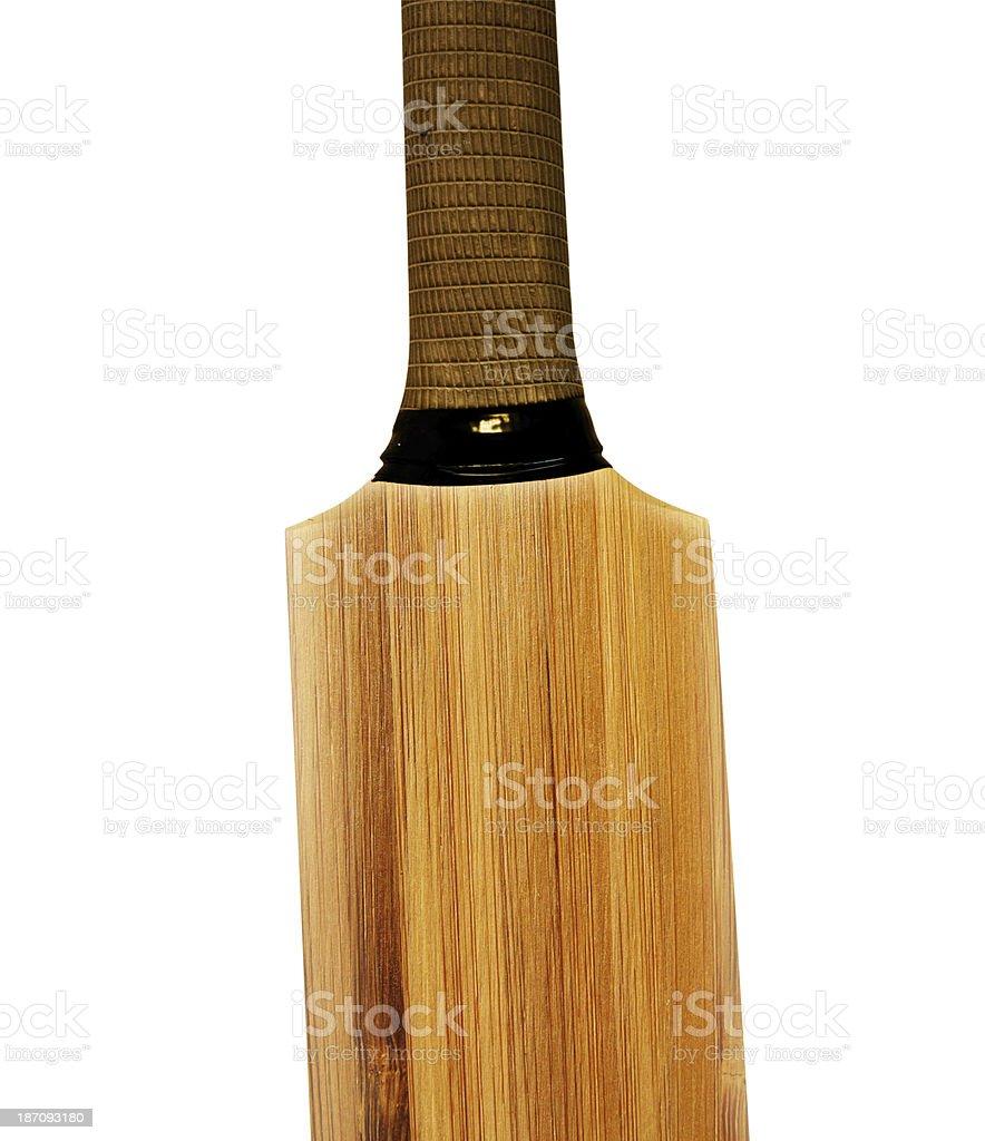 wooden cricket bat stock photo