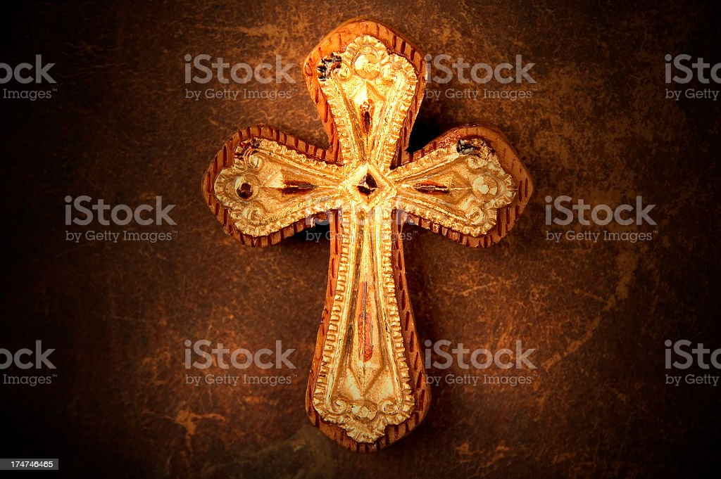 Wooden Cross 2 royalty-free stock photo
