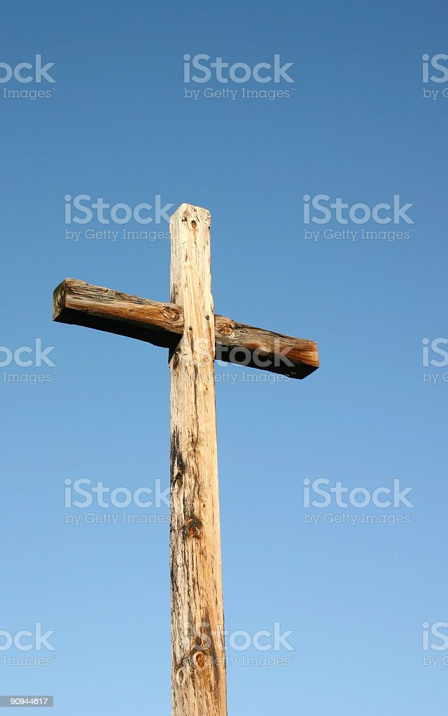 Wooden Cross at Jamestown, Virginia royalty-free stock photo
