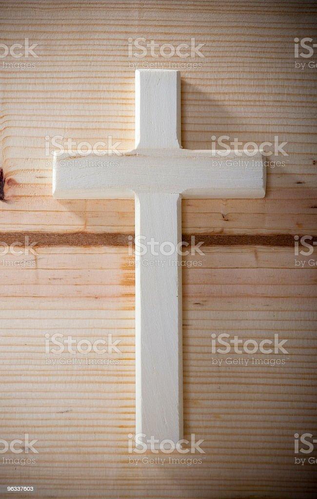 Wooden Cross stock photo