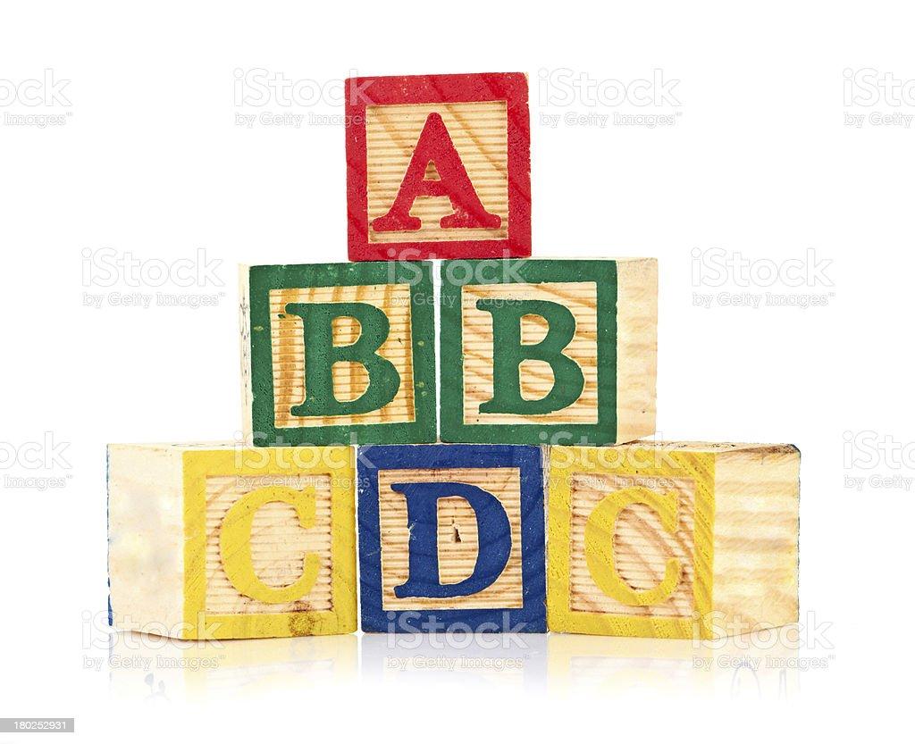 wooden cube alphabet royalty-free stock photo