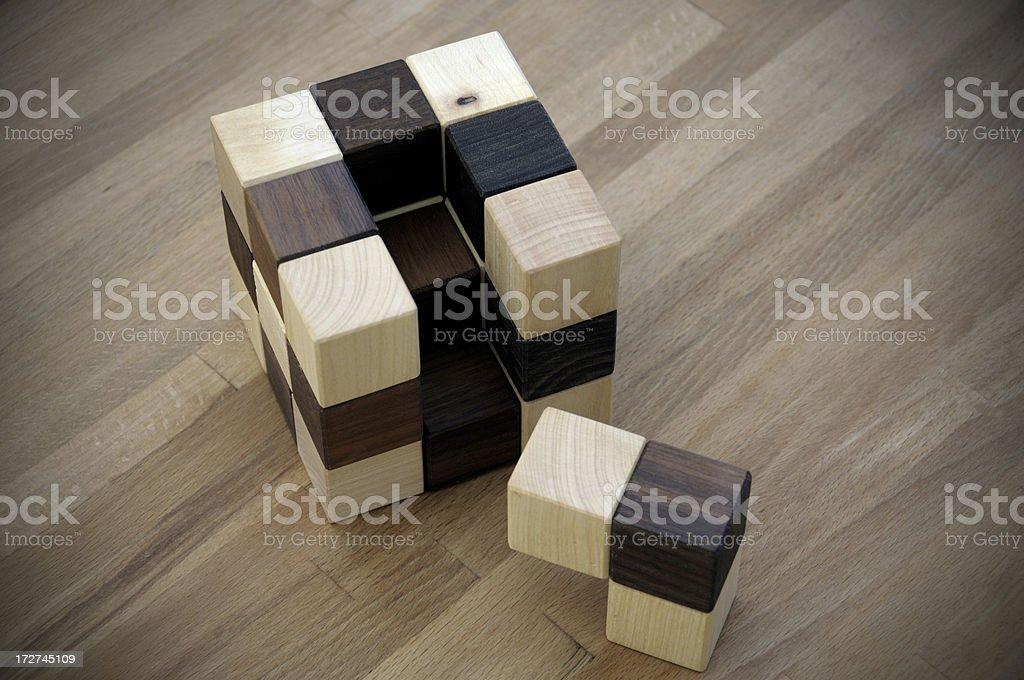 wooden cube stock photo
