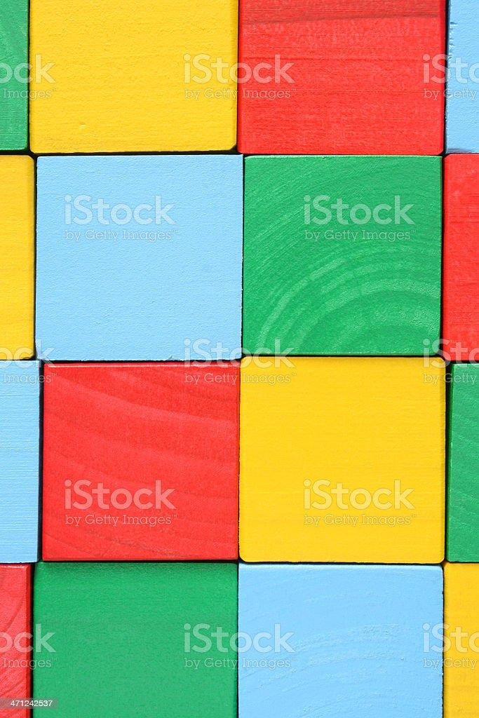 Wooden cubes royalty-free stock photo