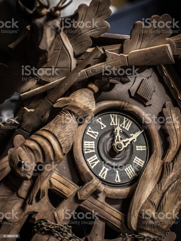 Wooden Cuckoo Clock stock photo