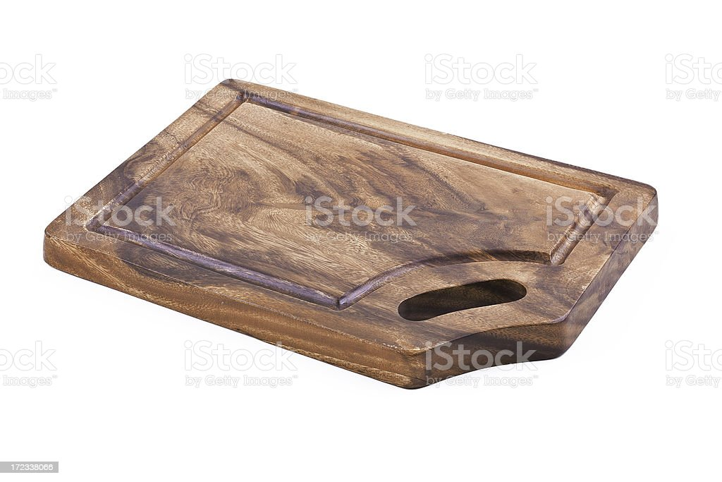 wooden cutting board. royalty-free stock photo