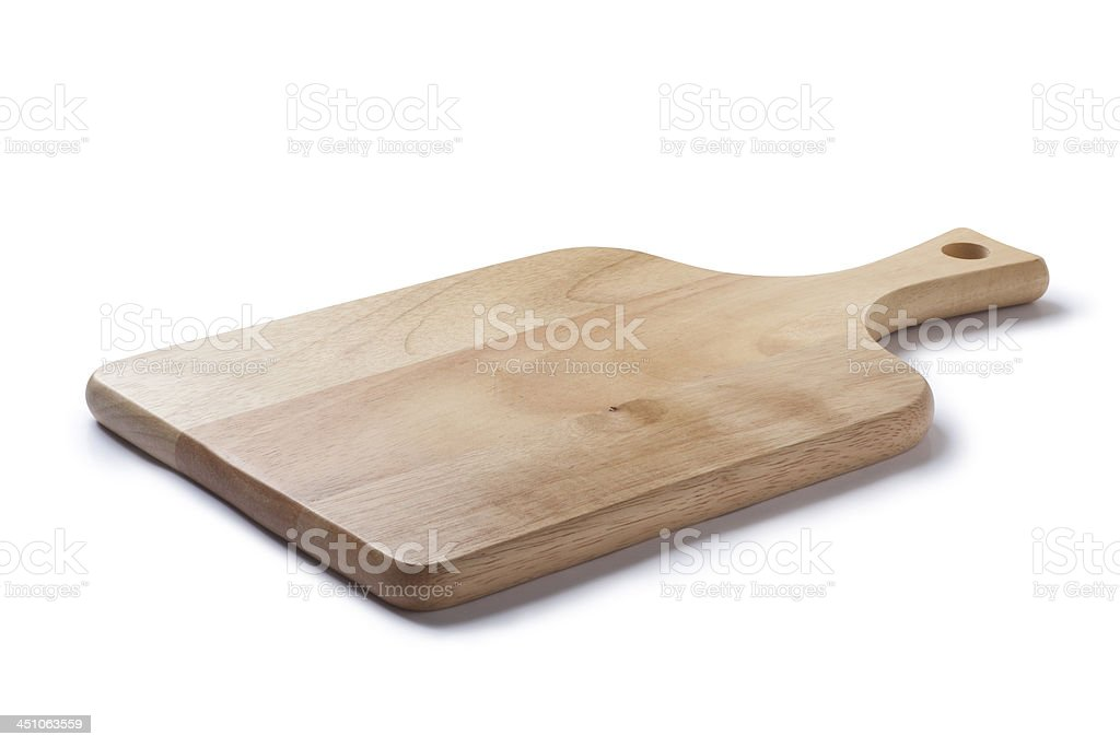Wooden cutting board stock photo