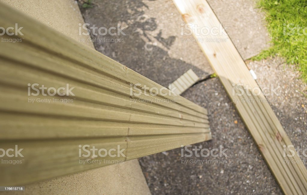 Wooden Decking Plank for Construction royalty-free stock photo