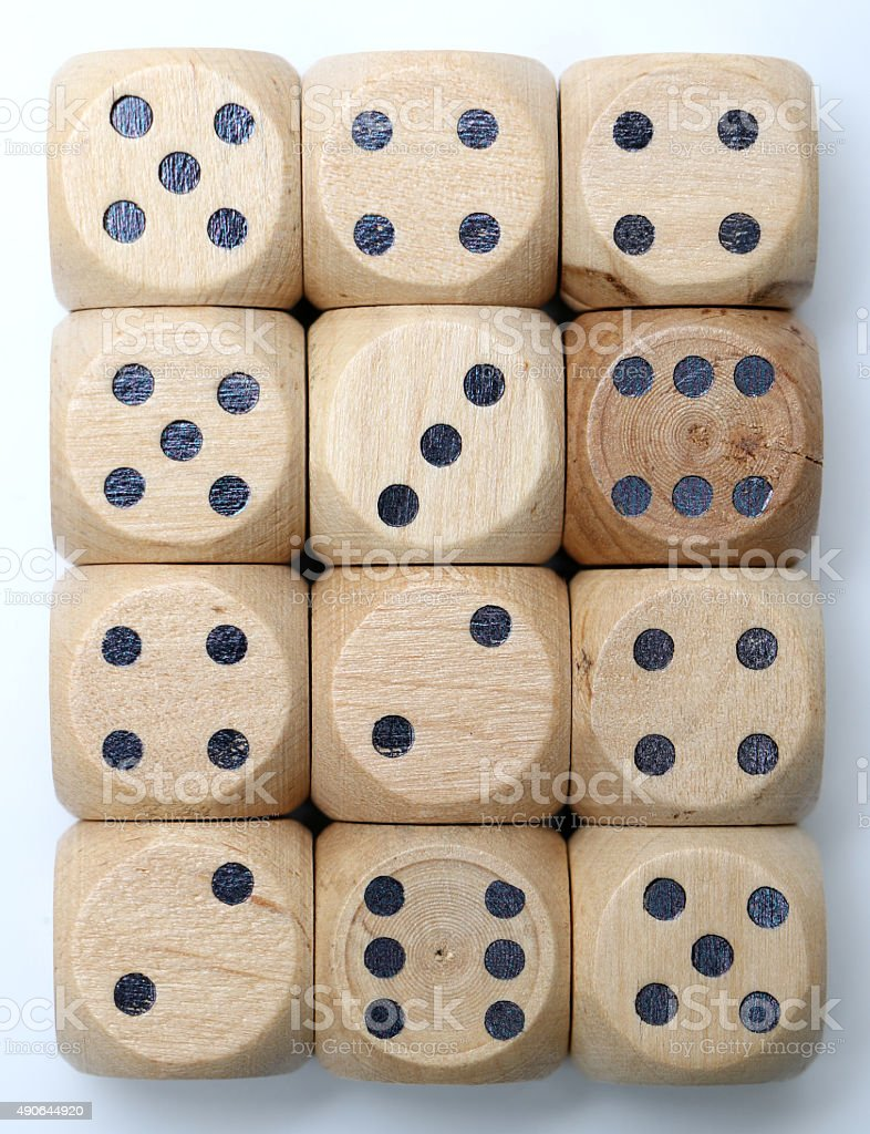 Wooden Dice stock photo