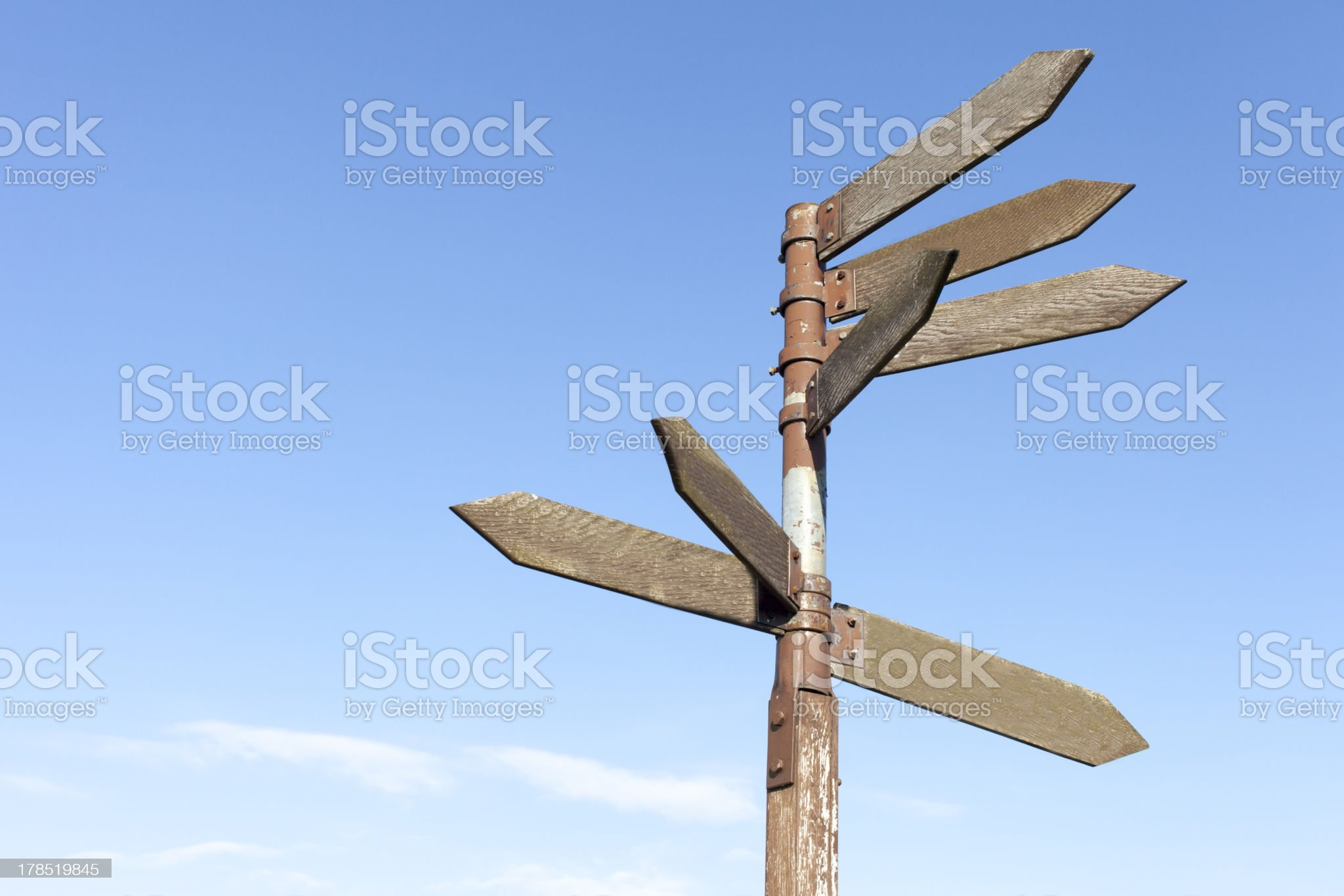 Wooden direction signs royalty-free stock photo