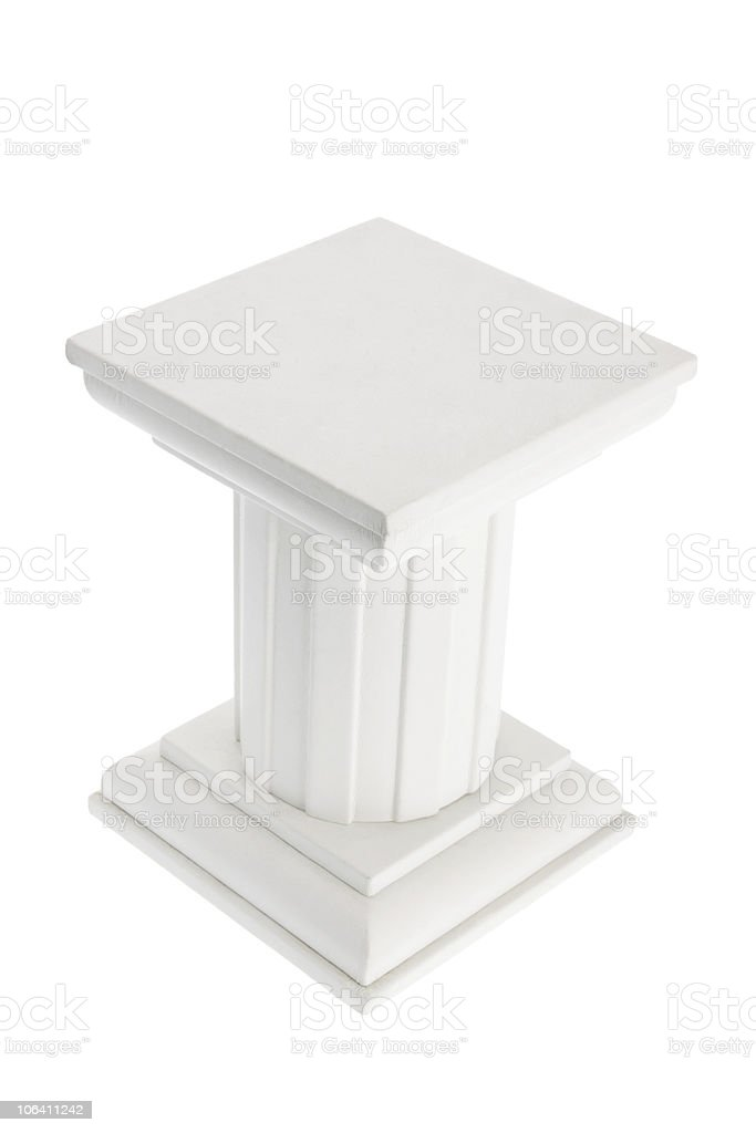 Wooden Display Stand royalty-free stock photo
