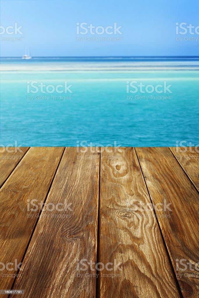 Wooden dock stock photo