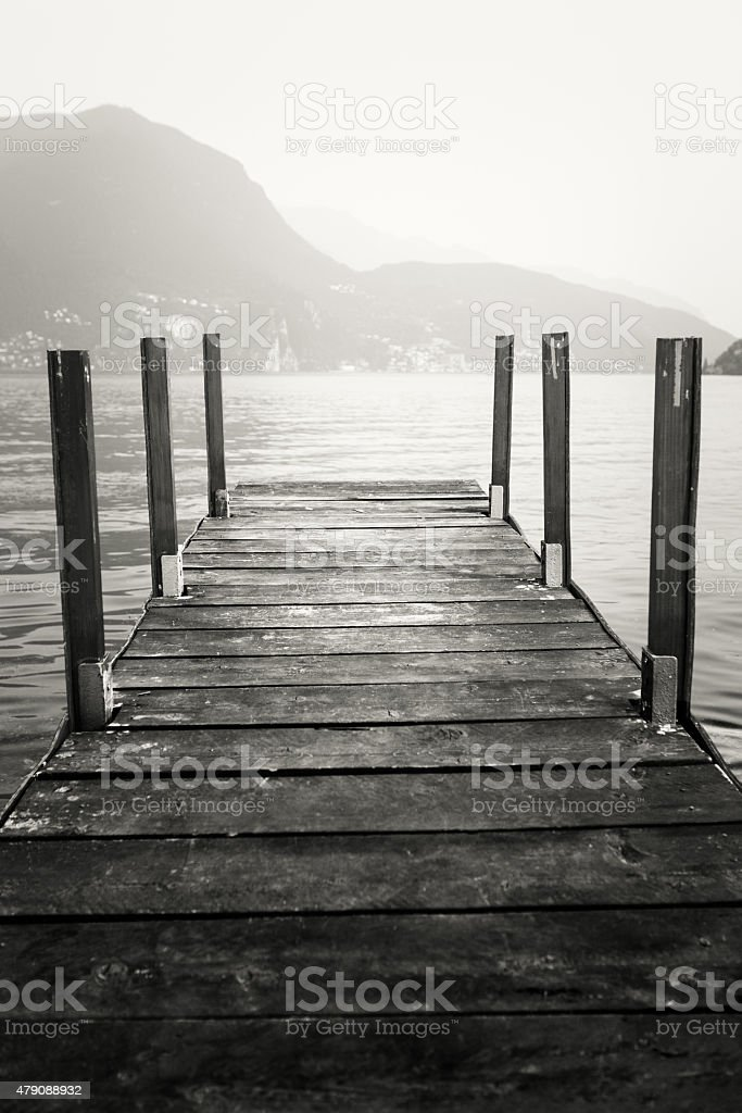 Wooden Dock stock photo