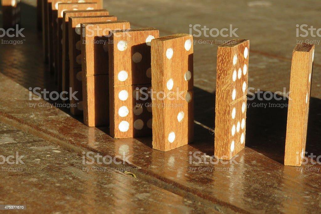 Wooden Dominoes stock photo