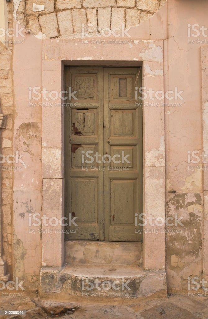 Wooden door. Acquaviva delle fonti. Puglia. Italy. stock photo