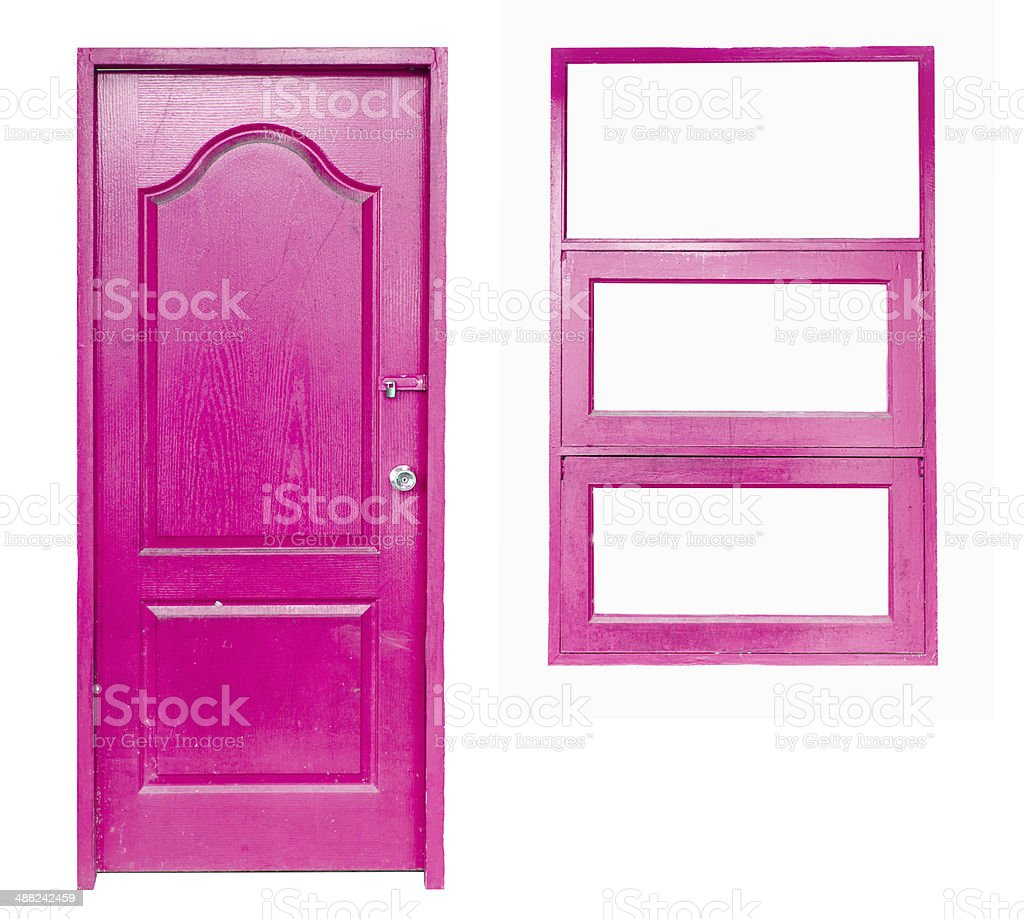 wooden door and window royalty-free stock photo