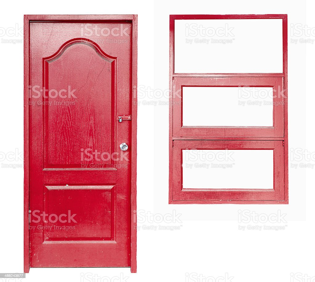 wooden door and window royalty-free stock photo