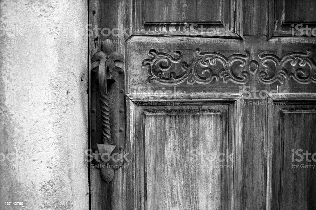 Wooden Door Detail stock photo