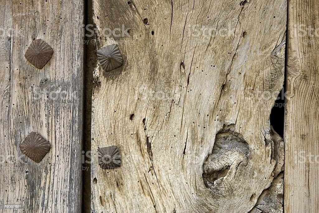 Wooden door detail royalty-free stock photo