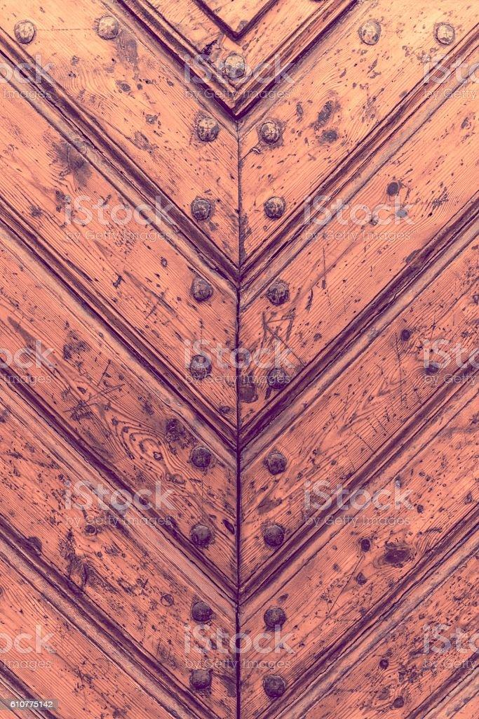 Wooden Door Details stock photo