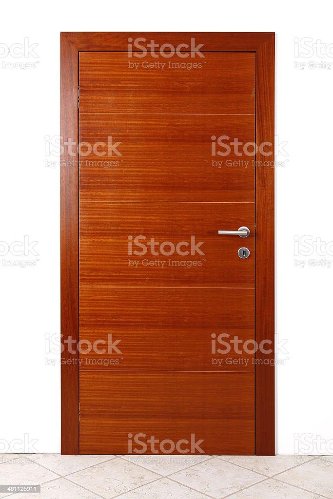 Wooden door isolated royalty-free stock photo