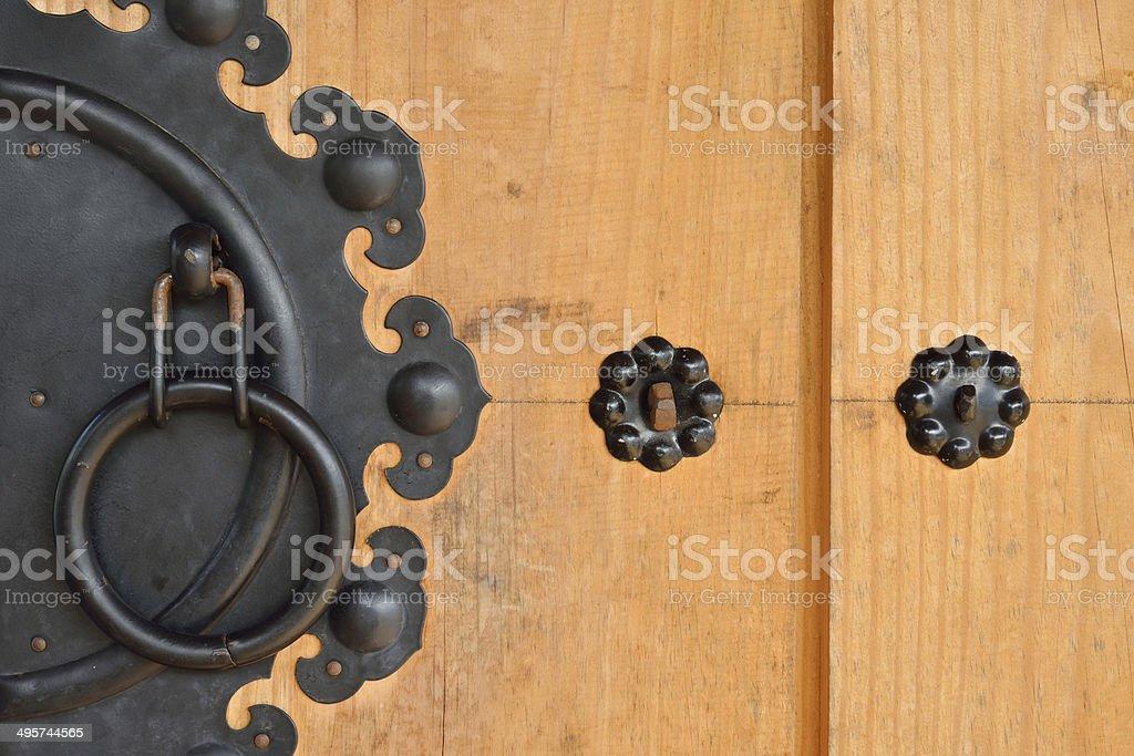wooden door of korean style royalty-free stock photo