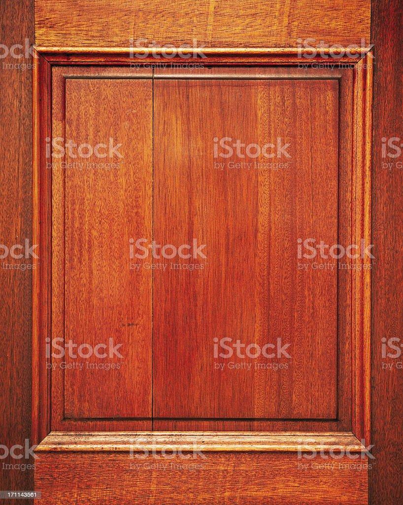 Wooden door panel stock photo