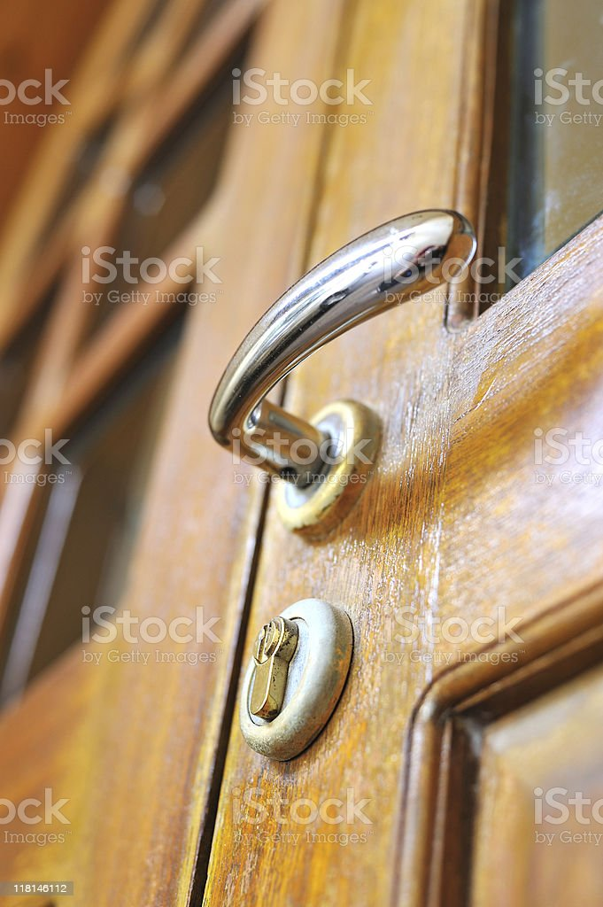 wooden door royalty-free stock photo
