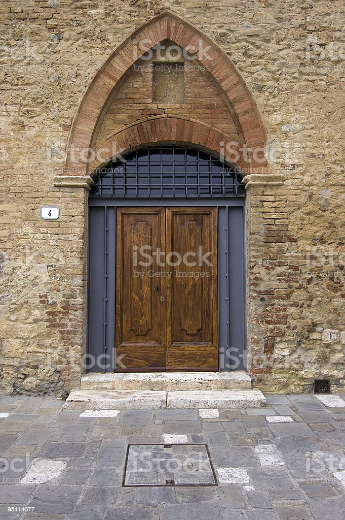 Wooden door royalty-free stock photo