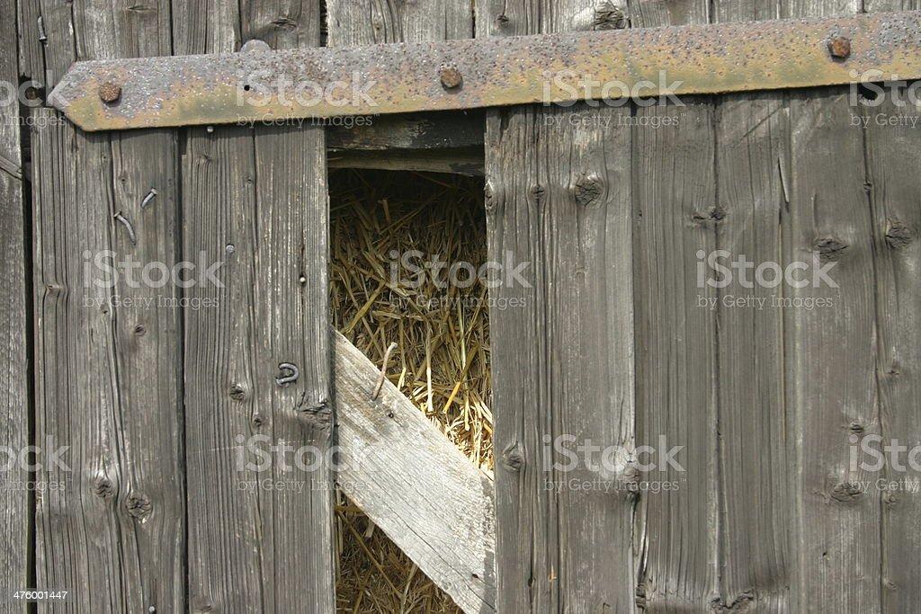 Wooden door with view stock photo
