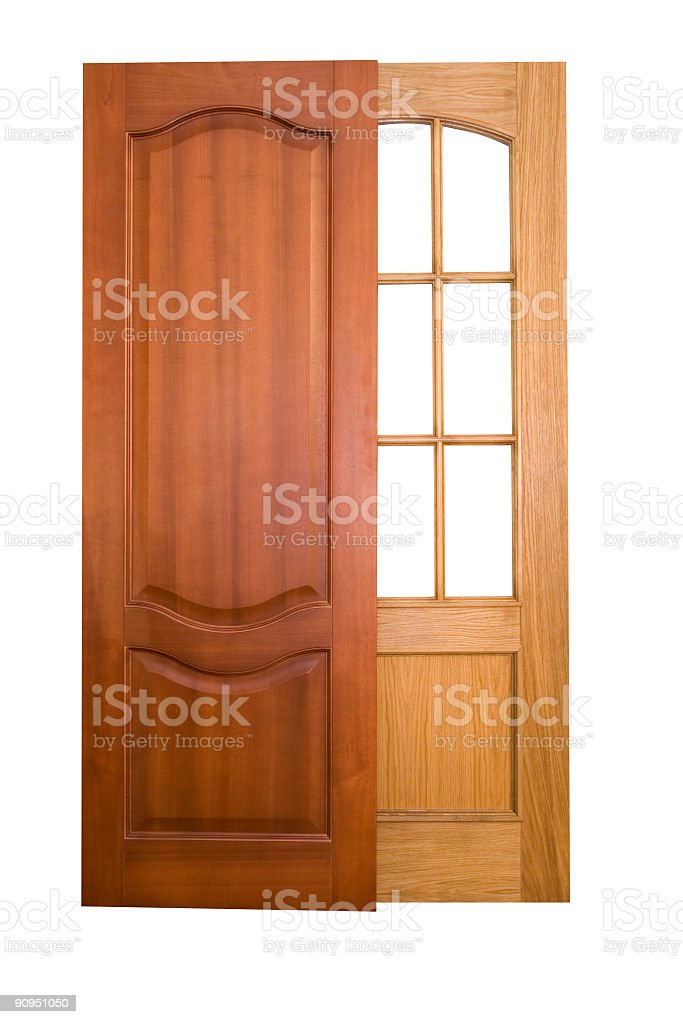 Wooden doors royalty-free stock photo
