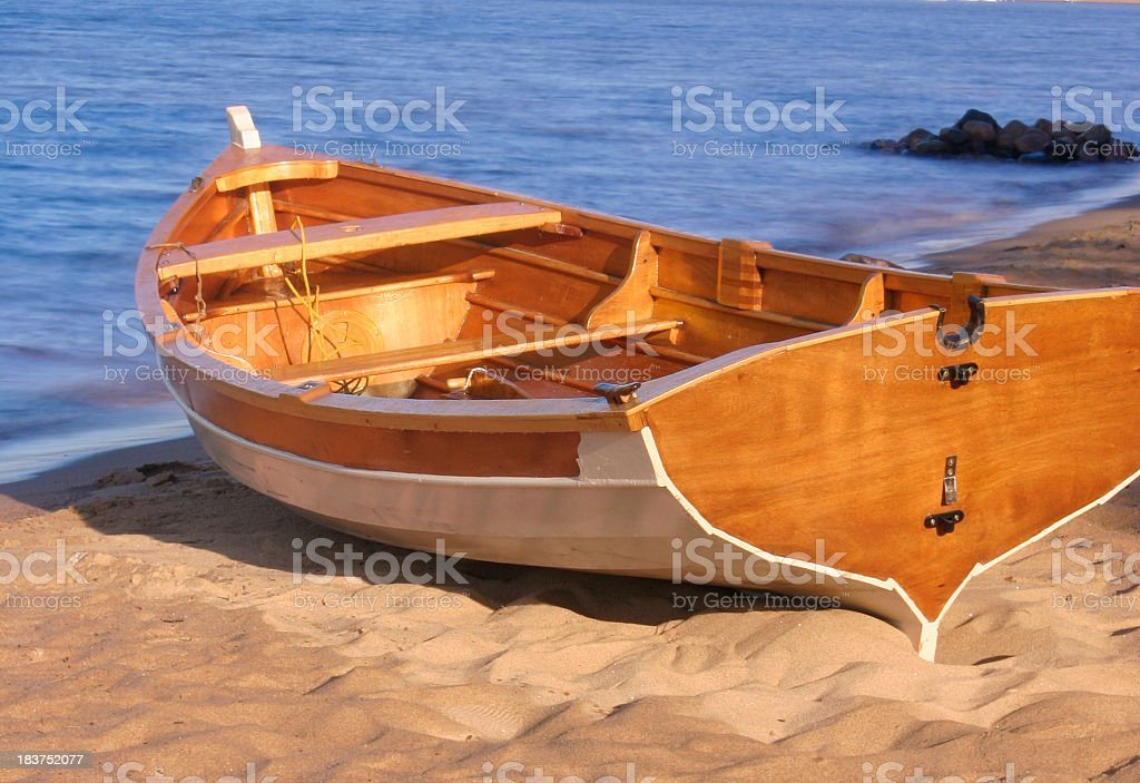 Wooden Dory royalty-free stock photo