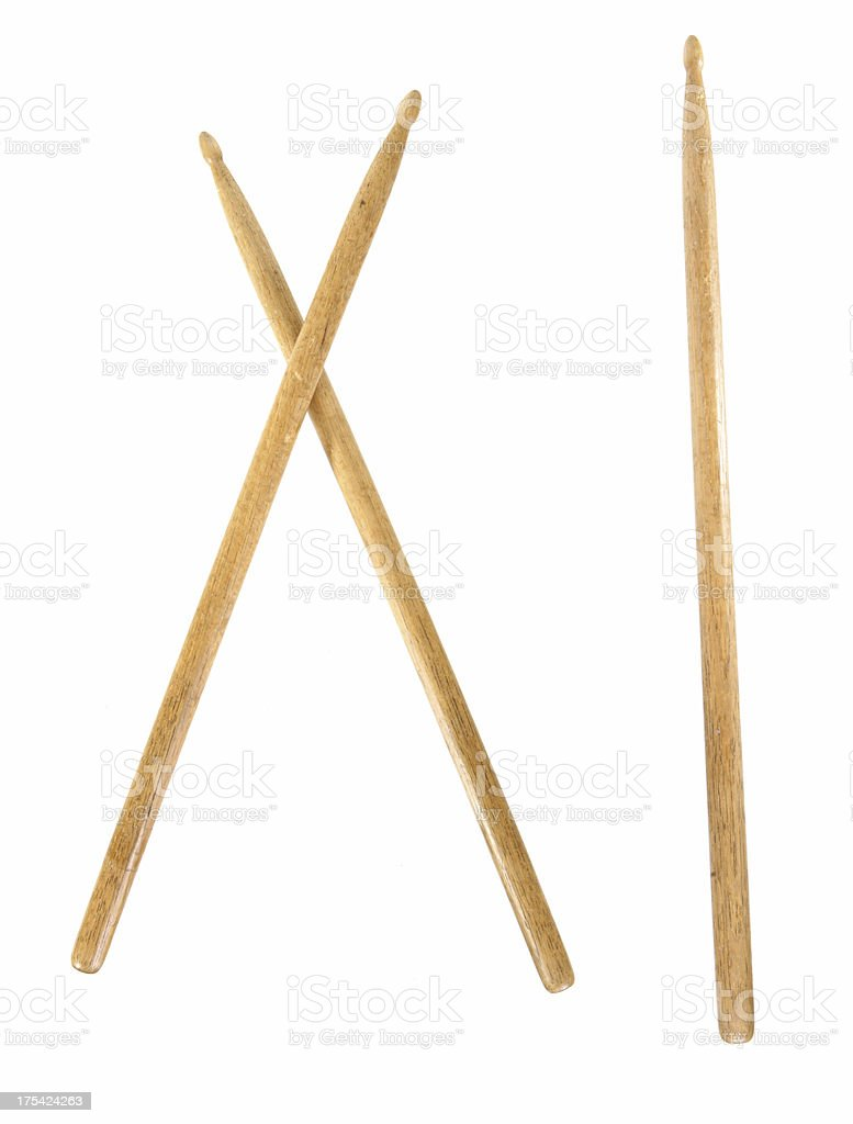 Wooden Drumsticks stock photo