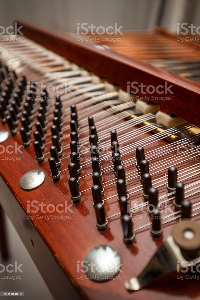 Wooden dulcimer stock photo